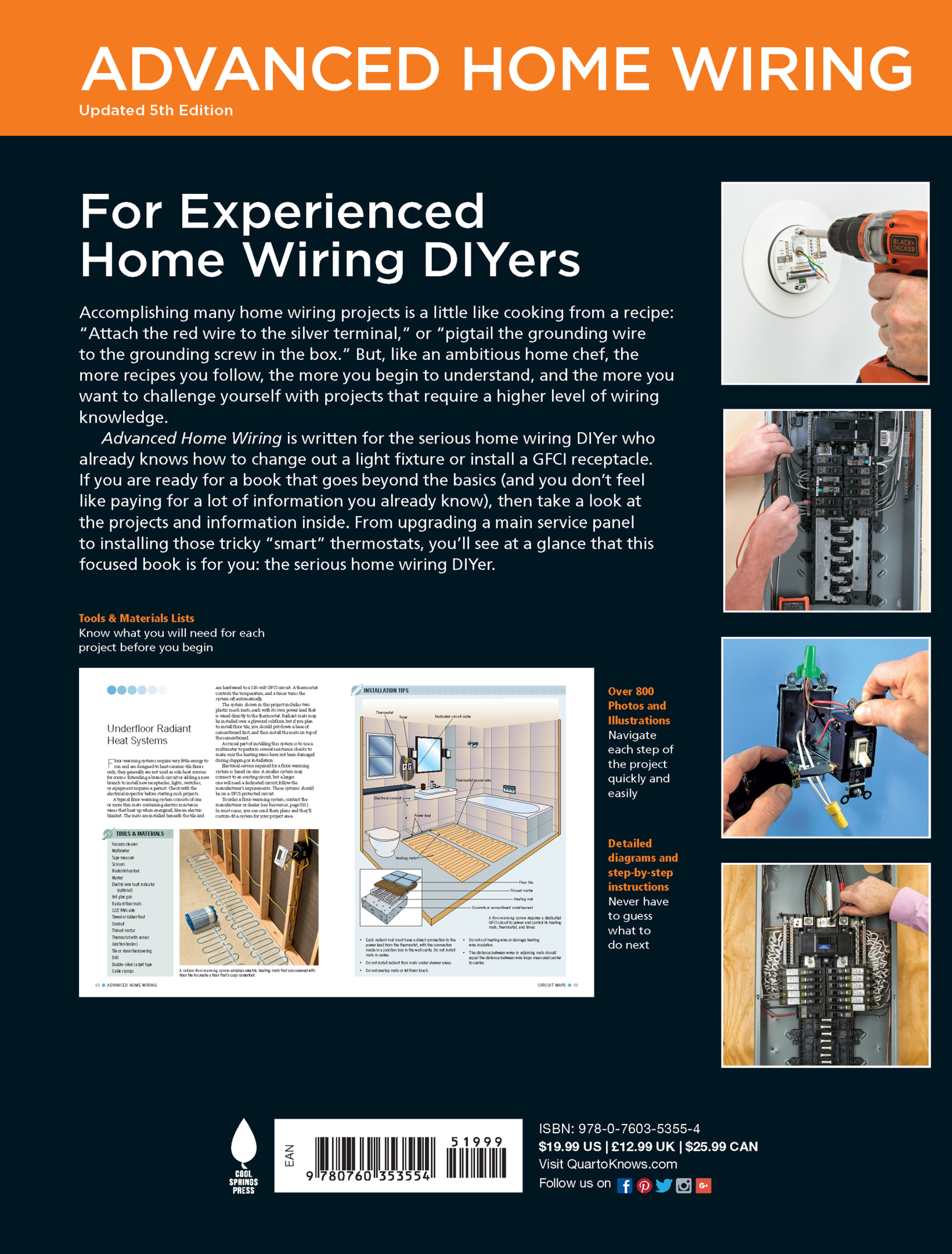 Smart Thermostats AFCI Protection + More Black /& Decker Advanced Home Wiring 5th Edition: Backup Power Panel Upgrades