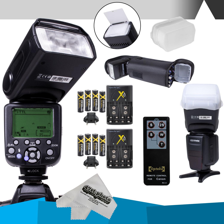 DigitalMate SB680 E-TTL Flash Kit w/ extra charger CANON ...