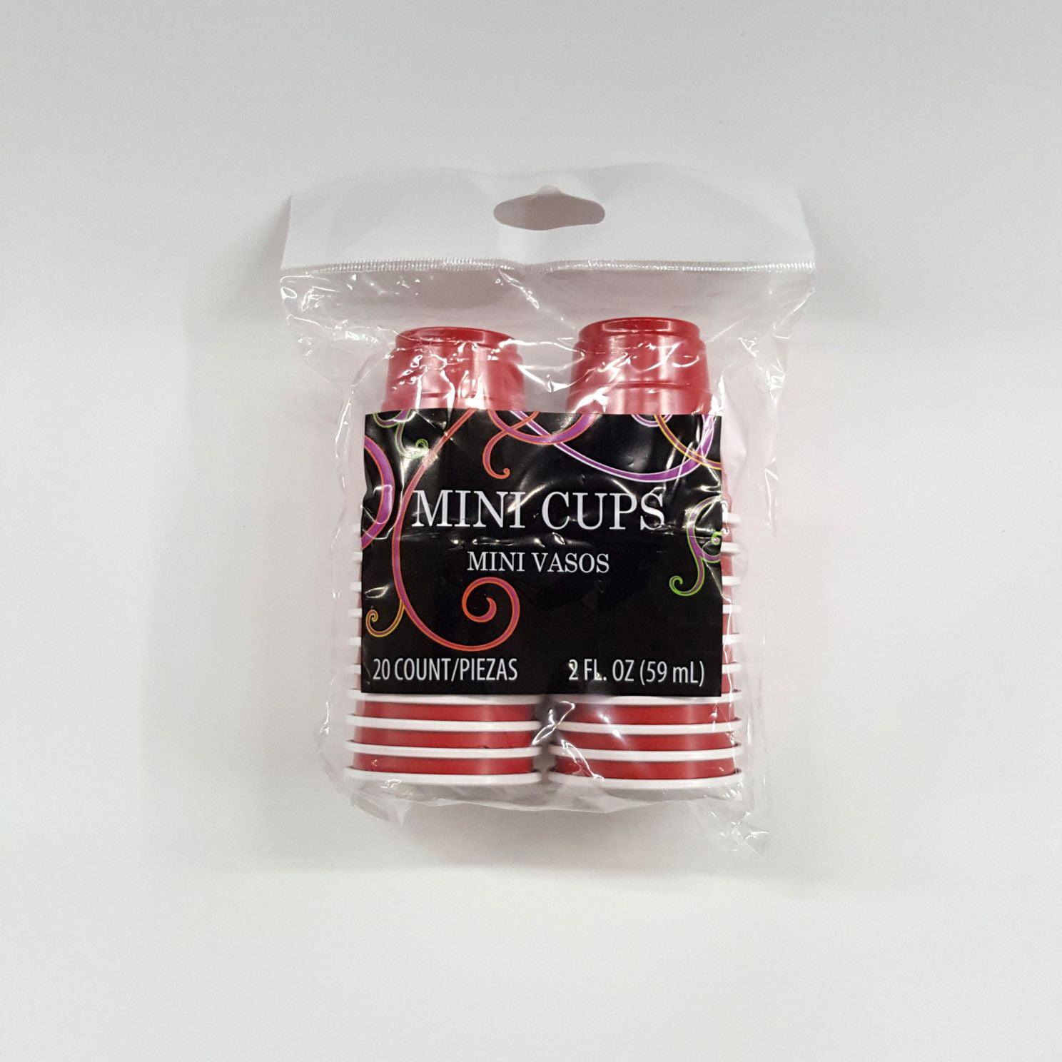 Mini Red Plastic Cups, 20ct