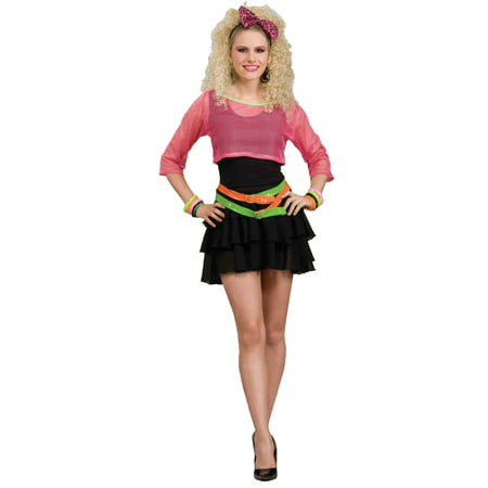 80s Groupie Adult Halloween Costume, Size: Women's - One Size - 80s Icon Halloween Costumes