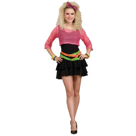 80s Groupie Adult Halloween Costume, Size: Women's - One (80s Groupie Adult Costume)