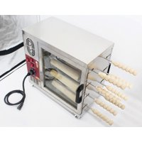 Commmerical Bakery Ovens Chimney Cake Roll Maker Cooking Bread Oven  16 Roller Kitchen Machine 110V