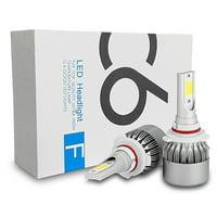 ICBEAMER 9005 HB3 LED COB Canbus Super White 6000K 36W High Beam Headlight Lamps Bulbs 2 Year Warranty [Pack of 2 pcs]