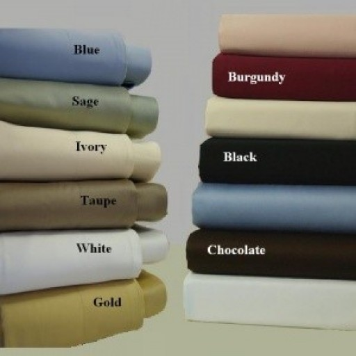 Super Soft- Wrinkle Resistant Microfiber Solid Split King Sheet Set