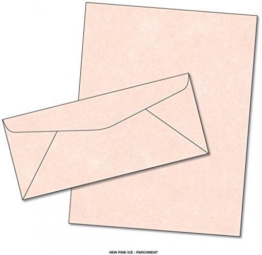 Parchment Matching Paper & Envelopes - Color: New Pink Ice - 50 Sets