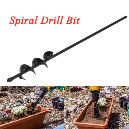 Staron Garden Plant Flower Bulb Auger Rapid Planter, Earth Auger Bit, Fence Post Hole Digger Drill