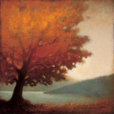Solitude Autumn Country Fall Landscape Tree Art Print Wall Art By Edward