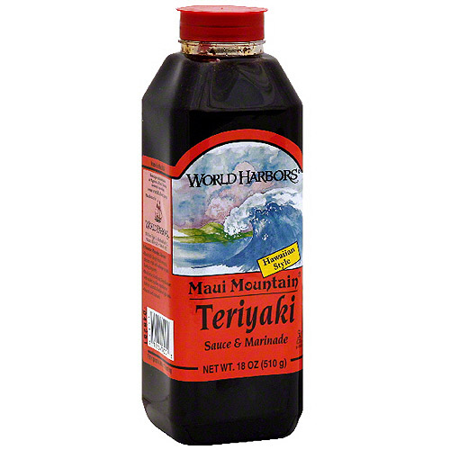 World Harbors Maui Mountain Teriyaki Marinade & Sauce, 16 oz (Pack of 6)