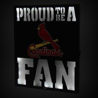 "St. Louis Cardinals 12"" x 15"" LED Metal Wall Decor"