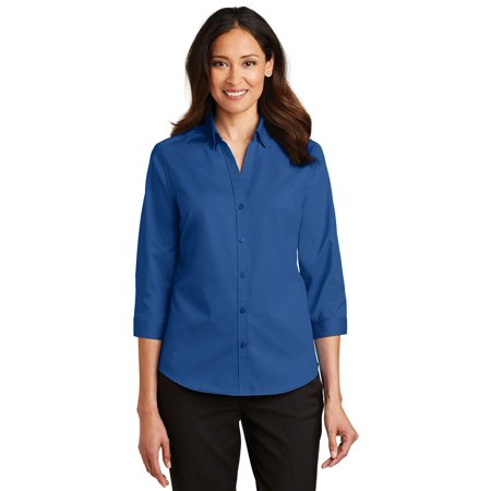 Port Authority Ladies 3/4-Sleeve SuperPro Twill - Twill Quality Classic Shirt