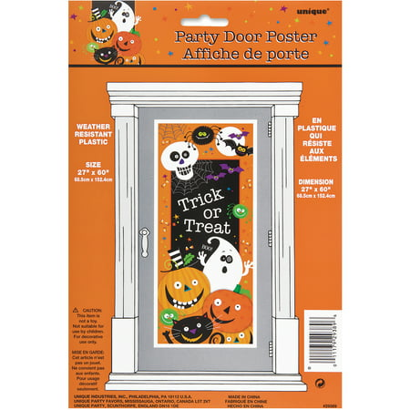 Plastic Spooky Smiles Halloween Door Poster, 5 x 2.5ft, 1ct