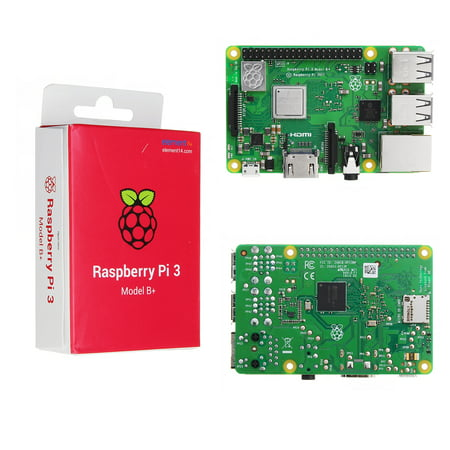 Raspberry Pi 3 Model B+ (Plus) Mother Board Mainboard With BCM2837B0 Cortex-A53 (ARMv8) 1.4GHz CPU Dual-Band Wireless LAN w/ 1GB