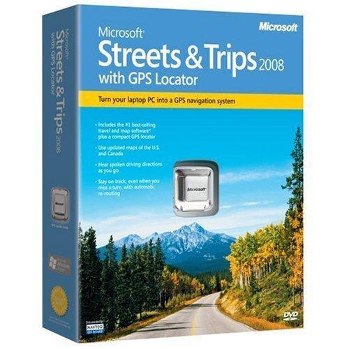 Microsoft Streets & Trips 2008 with GPS Locator