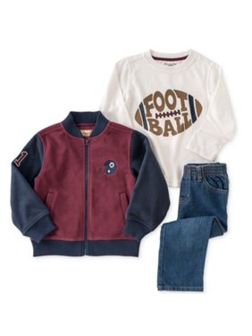 Kids Headquarters Infant Boys 3 Piece Football Outfit Pants Shirt & Jacket