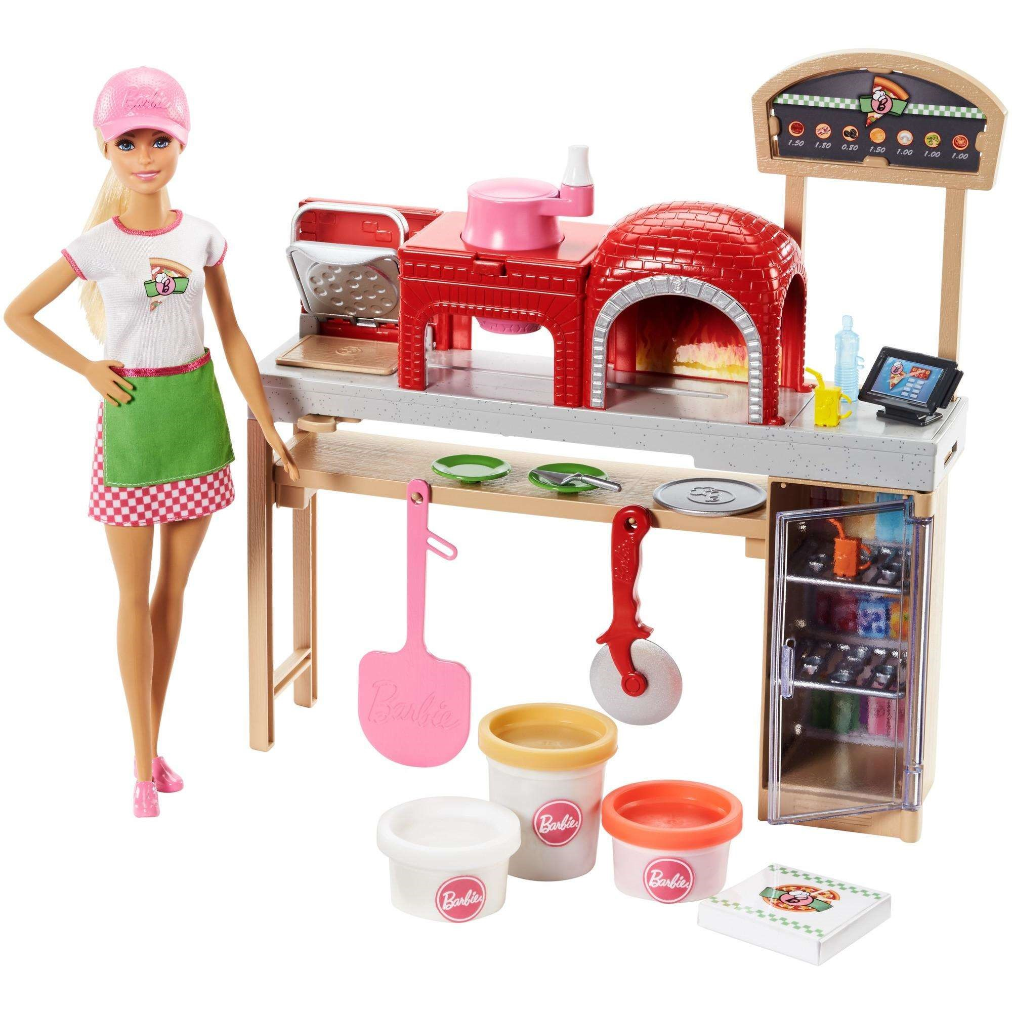 Barbie Cooking Baking Pizza Making Chef Doll Play Set Walmart Com