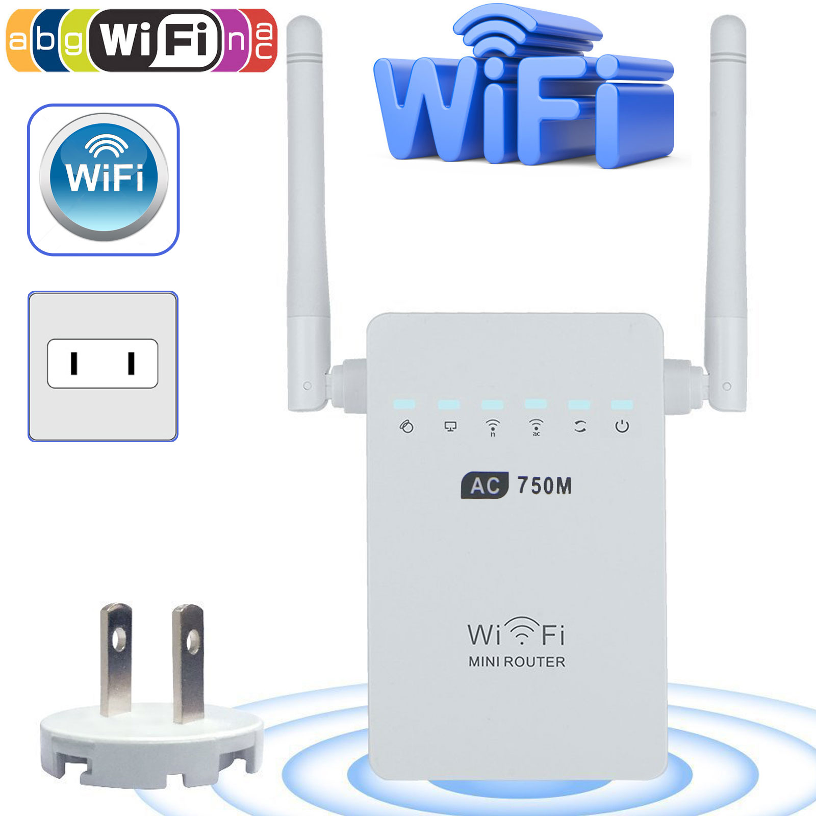 EEEKit 750 Mbps Dual Band WiFi Router Network Range Extender Wireless Repeater IEEE 802.11a b g n & 802.11ac Booster... by EEEKit