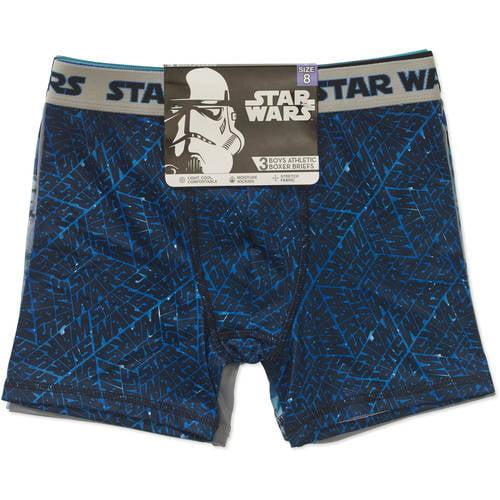 Star Wars Athletic Boxer Briefs, 3 Pair