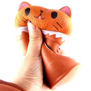 Cut Coffee Cup Cat Scented Squishy Slow Rising Squeeze Toy