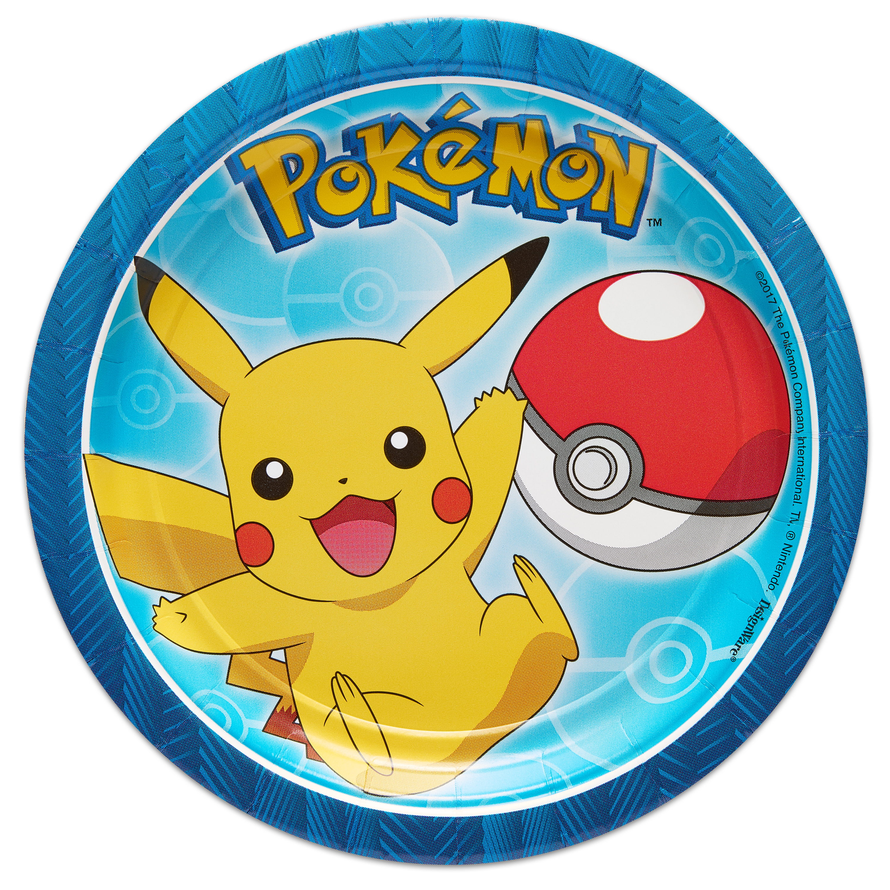 Pokemon Party Paper Round Plate, 7 in, 8ct