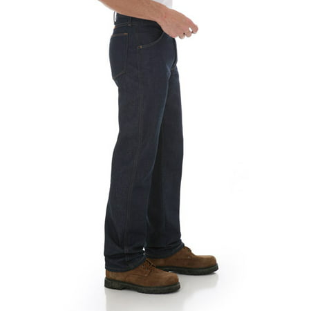 Blue Denim Motorcycle Pant (Rustler Men's Regular Fit Bootcut Jean )