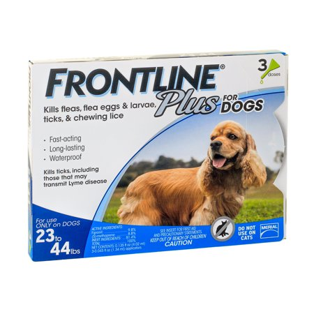 Frontline Plus Flea And Tick Treatment For Medium Dogs  3 Doses