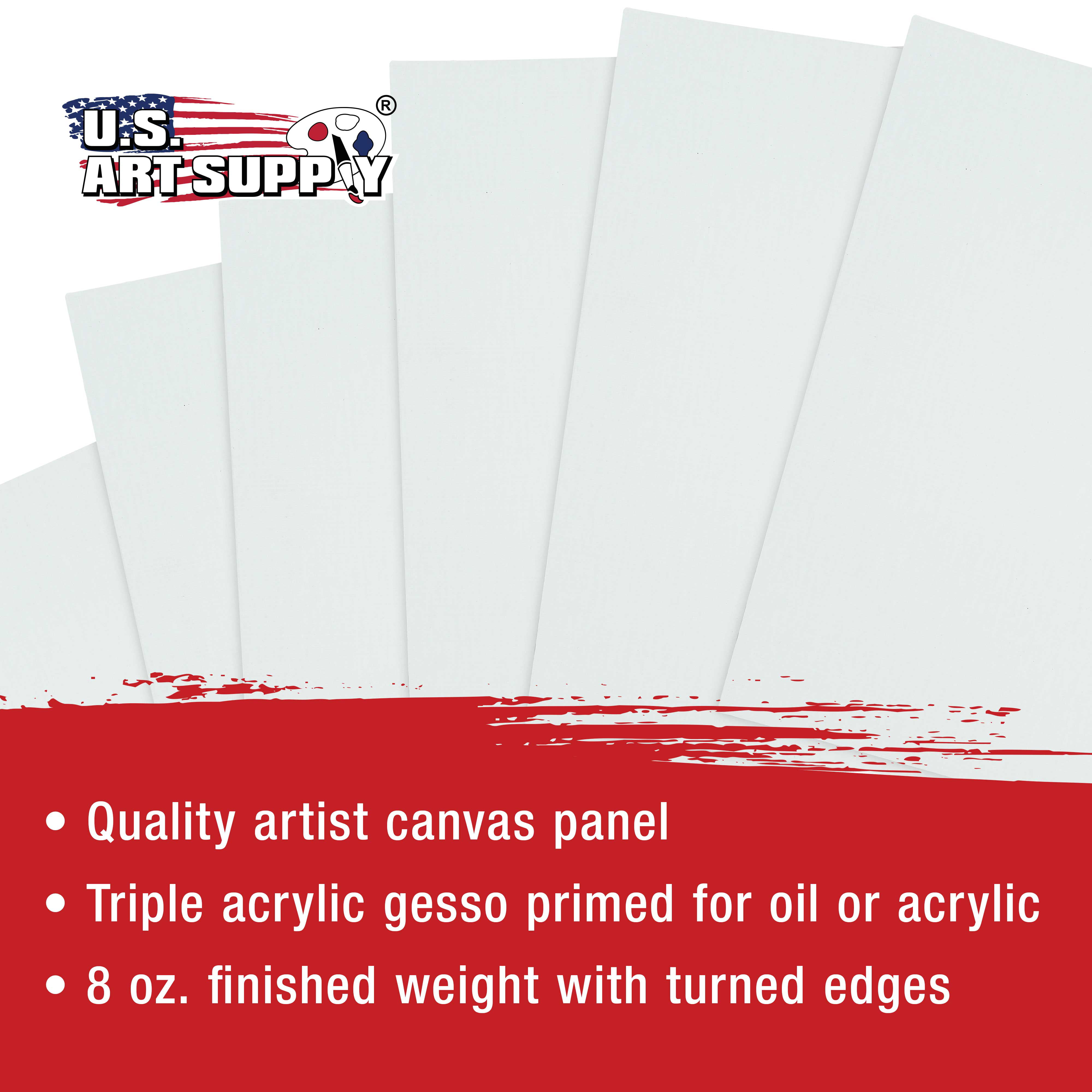 ;12 Pack Canvas Panel Boards Blank Frame 8 X 10 In Large Wall Art Paint Acid Fre