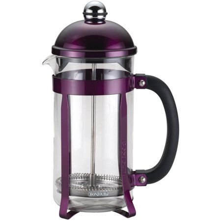 BonJour Coffee 8-Cup Maximus French Press, Purple (Bonjour 3 Cup Ami Matin Unbreakable French Press)