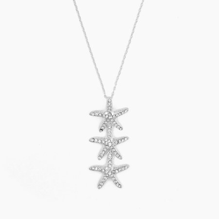 Oka-B Sterling Silver Starfish Drop Chain Pendant Necklace MSRP $20.00