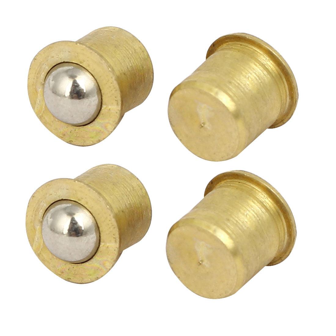 Door Cabinet Closet Brass Cylinder Shape Ball Catch Latches Catchers 8mm 4pcs