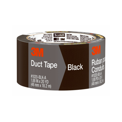 3M COMPANY 1020-BLK-A 1.88x20YD Black Duct Tape