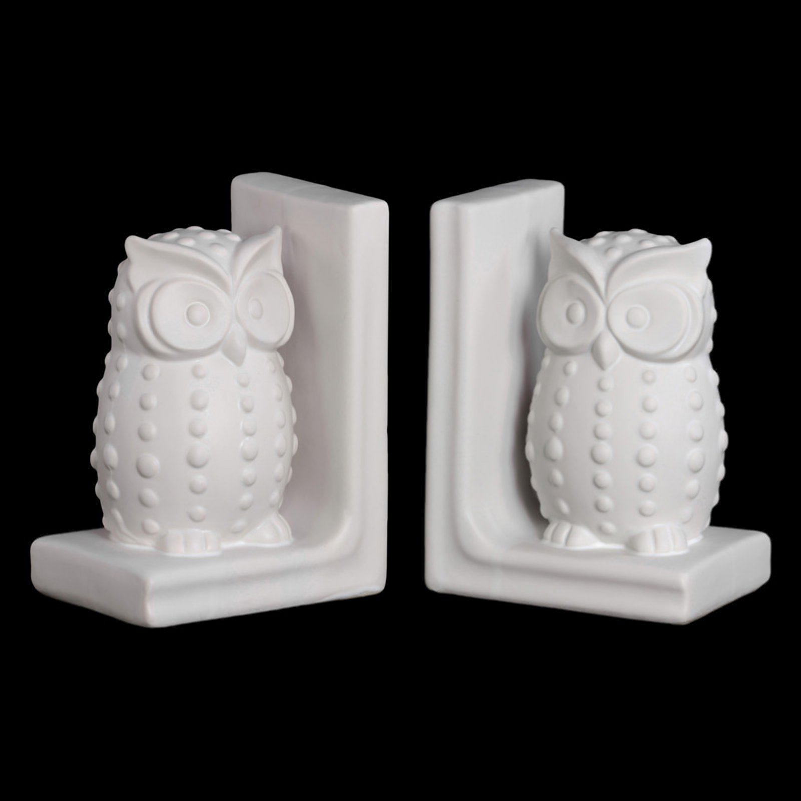 Urban Trends Ceramic Standing Owl with Studs Bookend