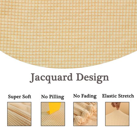 "Jacquard Sofa Cover Couch Removable Slipcover Washable 4 Seater #Yellow 92""-122"" - image 1 of 7"