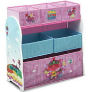 Trolls World Tour Design and Store 6 Bin Toy Organizer by Delta Children