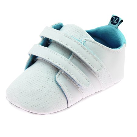 Stepping Stones - First Steps Cute Baby Boys Athletic Fashion Sneakers  Trendy Gym Shoe Casual Kicks Soft Sole Newborn Prewalker White Size 4 (9-12  Months) ... 57ae71469