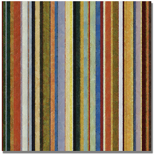 "Trademark Fine Art ""Comfortable Stripes V"" Canvas Wall Art by Michelle Calkins"