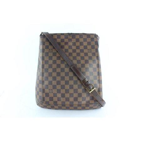 Louis Vuitton Musette Damier Ebene Salsa Gm 25lz1130 Brown Coated Canvas Messenger Bag