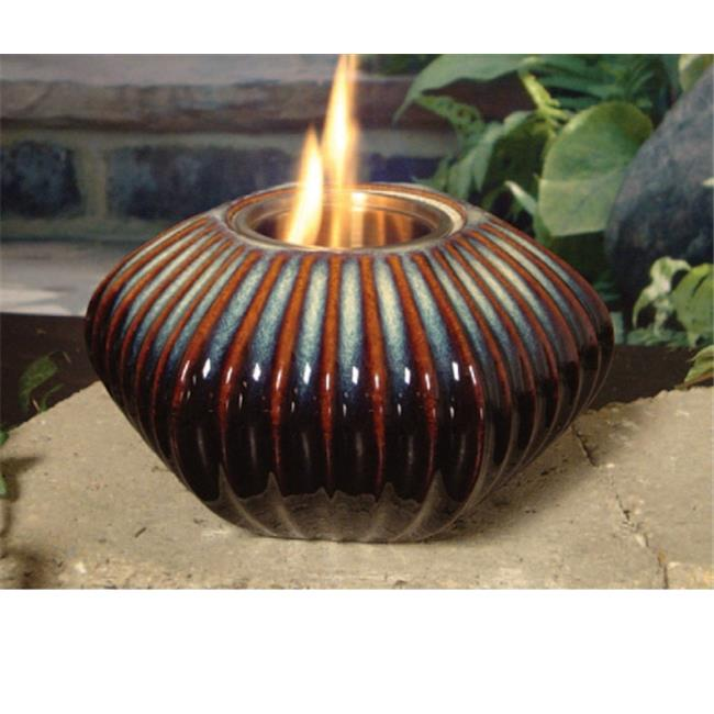 Marshall Home MBS-29-4-1350N 8 W x 4.5 H In., San Antonio Blue Ceramic Firepot