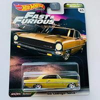 Hot Wheels Premium Fast & Furious '66 Chevy Nova (Gold) Motor City Muscle 4/5