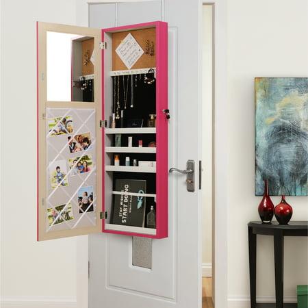 nikoleta fuchsia over the door jewelry armoire makeup storage organizer vanity by inspired. Black Bedroom Furniture Sets. Home Design Ideas
