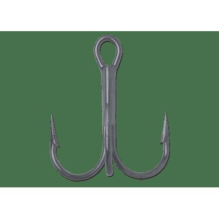 VMC Round Bend Treble 1X Strong Fishing Hooks - Model 9650 - Black Nickel - 1 - 25 Hooks