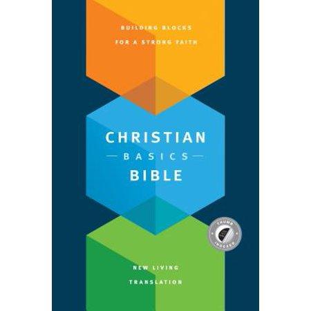 Christian Basics Bible NLT (Hardcover, Indexed) - Christian Bible Tracts Halloween