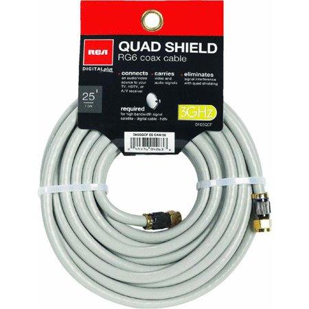 RCA 25′ Digital Series Digital Quad RG-6 Coaxial Cable