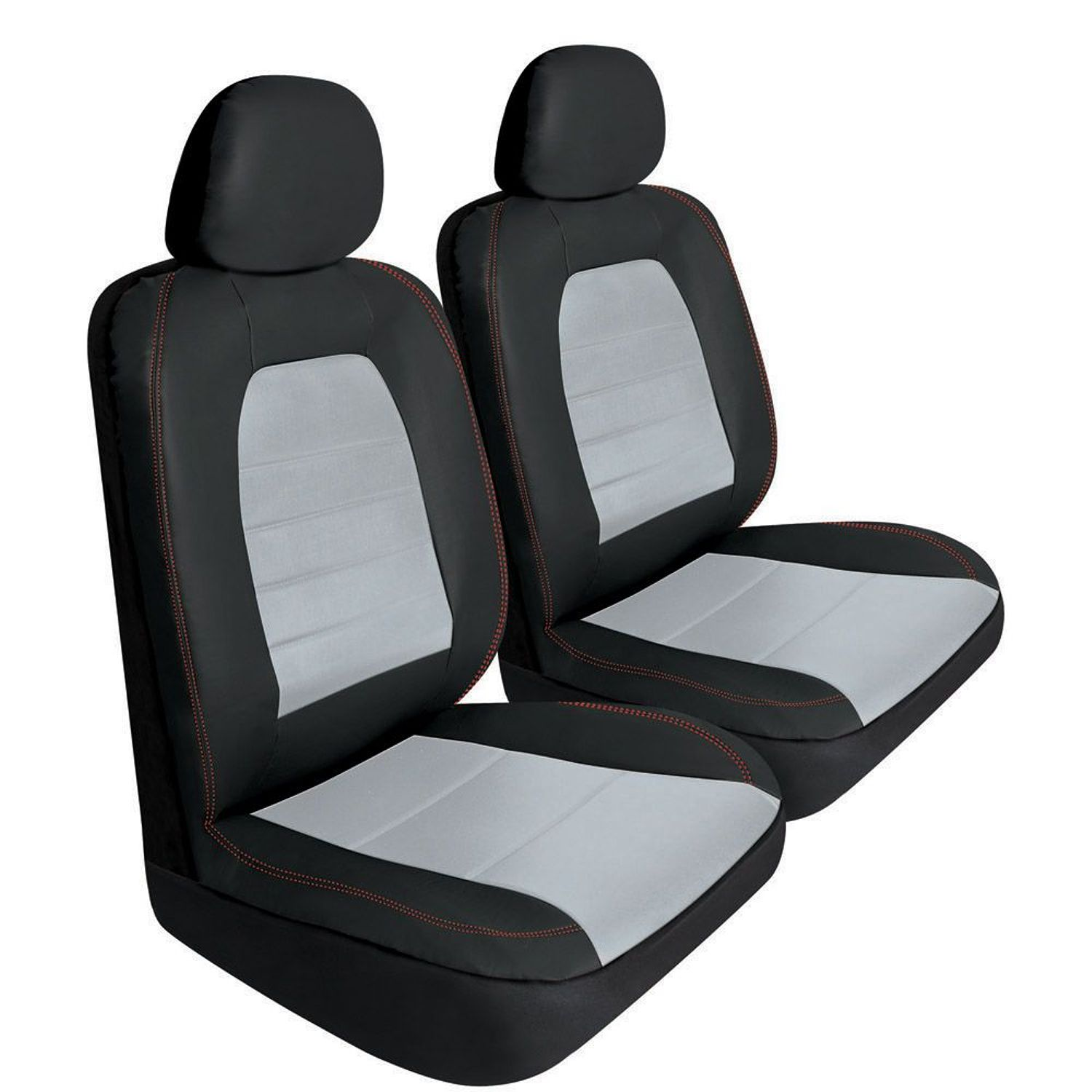6 Piece Set Super Sport Synthetic Leather Car Auto Seat Cover   Black/Gray