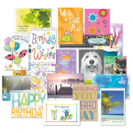 Mega Birthday Cards Value Pack (Set of 40, 20 designs)