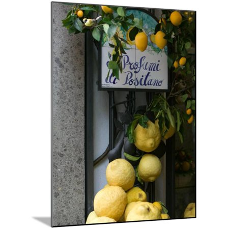 Lemons, Positano, Amalfi Coast, Campania, Italy Photo Wood Mounted Print Wall Art By Walter Bibikow