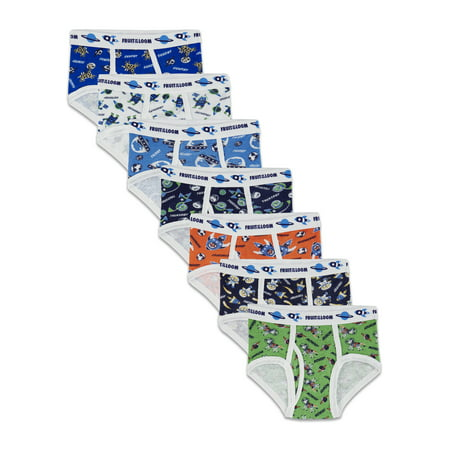 Fruit of the Loom Days of the Week Brief Underwear, 7 Pack (Toddler Boys) (Toddler Boy Briefs 5t)