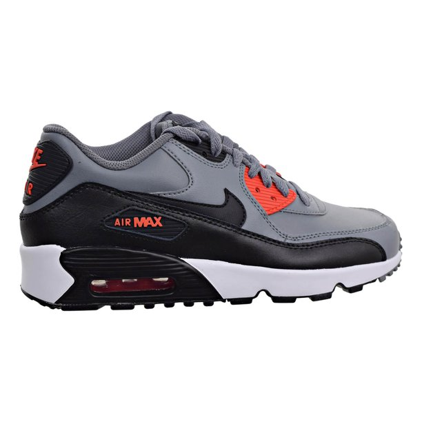 Nike Air Max 90 LTR (GS) Big Kids Shoes Cool Grey/Black/Max Orange 833412-010
