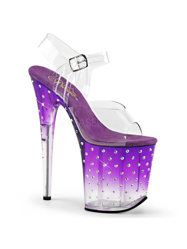 STDUS808T/C/PP-C Pleaser 5 Platforms Specialty Collection Size: 5 Pleaser Clr/Purple-Clr b42cb0