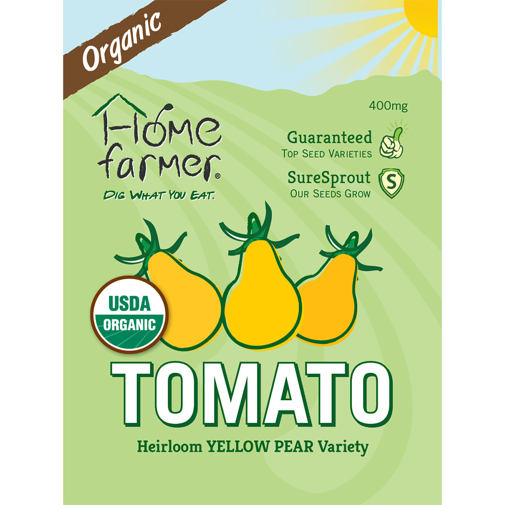 Organic Heirloom Tomato (Yellow Pear) Seed Packet