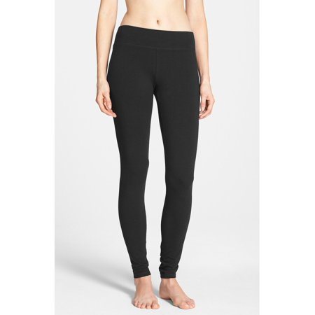 Hue NEW Solid Deep Black Women's Small S Pull-On Legging Pants $36 DEAL #222